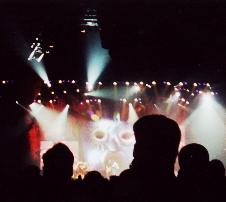 BNL concert 2001: pic of stage... I love the mask thing!
